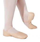 Girls Full Sole Leather Ballet Slipper