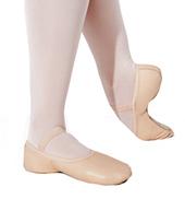 Womens Full Sole Leather Ballet Slipper