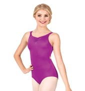 Girls Drape Pinch Back Tank Leotard