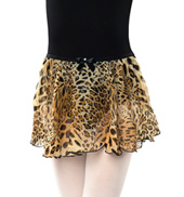 Girls Leopard Print Pull-On Skirt