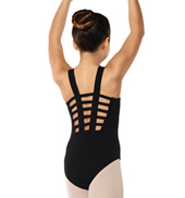 Girls Grid Back Tank Leotard