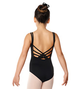 Girls Basket Weave Camisole Leotard