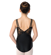 Girls Lace V-Back Camisole Leotard