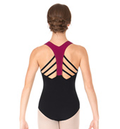 Adult Fishbone Back Strap Tank Leotard