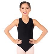 Girls Double Criss-Cross Tank Leotard