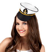 12-Pack Sailor Captain Mini Hat Headbands