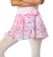 Girls Pastel Floral Pull-On Skirt