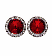 17MM Clip On Swarovski Crystal Earrings