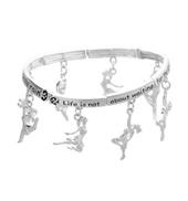 Dance Inspirational Charm Bracelet