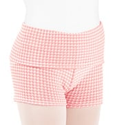 Girls Thermal Knit Warm Up Shorts