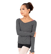 Girls Thermal Knit V-Neck Dance Sweater