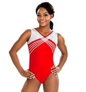 Girls Red Superstar Tank Leotard
