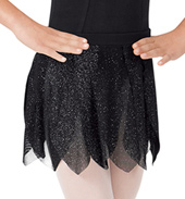 Girls Glitter Petal Pull-On Skirt