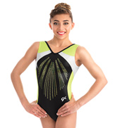 Girls Black Pearl Tank Leotard