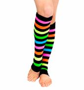 Adult/Child Neon Rainbow Legwarmers