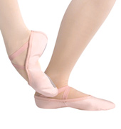 Adult Silhouette Canvas Split-Sole Ballet Shoes