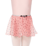 Girls Flower Pull-On Mock Wrap Skirt
