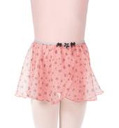 Girls Flower Pull-On Mock Wrap Skirt