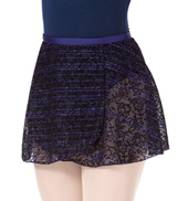 Flocked Wrap Skirt