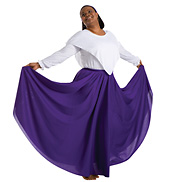 Adult Plus Size Single Layer Worship Circle Skirt