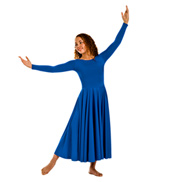 Adult Plus Size Worship Long Sleeve Dance Dress