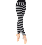 Adult Striped Knit Warm Up Pants