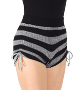 Adult Striped Knit Warm Up Short