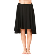 Adult Hi-Lo Skirt with Elastic Waistband