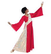 Plus Size Bell Sleeve Worship Dress