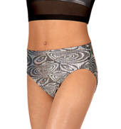 Girls Metallic Printed Dance Briefs