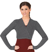 Adult Thermal Knit Wrap Dance Sweater
