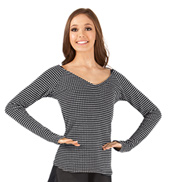 Adult Thermal Knit V-Neck Dance Sweater