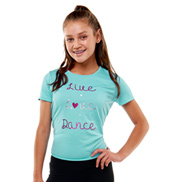 Teen Vega Live Love Dance Short Sleeve Tee