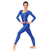 Adult Scoop Neck Nylon Long Sleeve Unitard