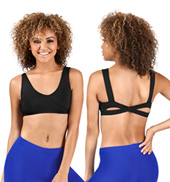 Adult Seamed Cross Back Bra Top