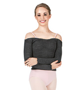 Adult Acrylic Stretch Long Sleeve Ballet Neck Top