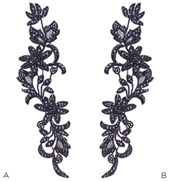 Swarovski Rhinestoned Floral Applique