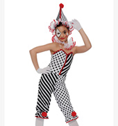 Girls Clown Costume