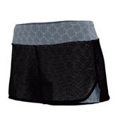 Ladies Plus Size Maze Mesh Double Layer Shorts