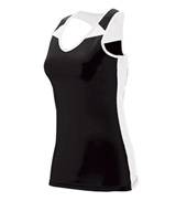 Ladies Plus Size Mesh insert tank Top