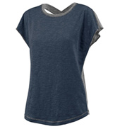 Ladies Plus Size Short Sleeve X-Back T-Shirt