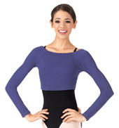 Adult Bamboo Warmup Long Sleeve Crop Top