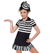 Adult Jailhouse Rock Short Sleeve Character Costume Dress Set