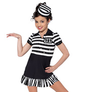 Child Jailhouse Rock Short Sleeve Character Costume Dress Set
