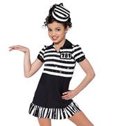 Child Jailhouse Rock Short Sleeve Character Costume Dress Set