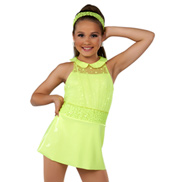 Adult I Love It Sleeveless Neon Costume Dress Set