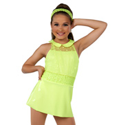 Child I Love It Sleeveless Neon Costume Dress Set