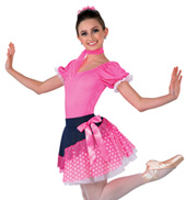Adult Rodeo Gingham Short Sleeve Character Costume Leotard