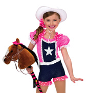 Adult Rodeo Stretch Denim Costume Overalls