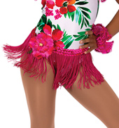 Child Caribbean Jam Tropical Fringe Costume Skirt